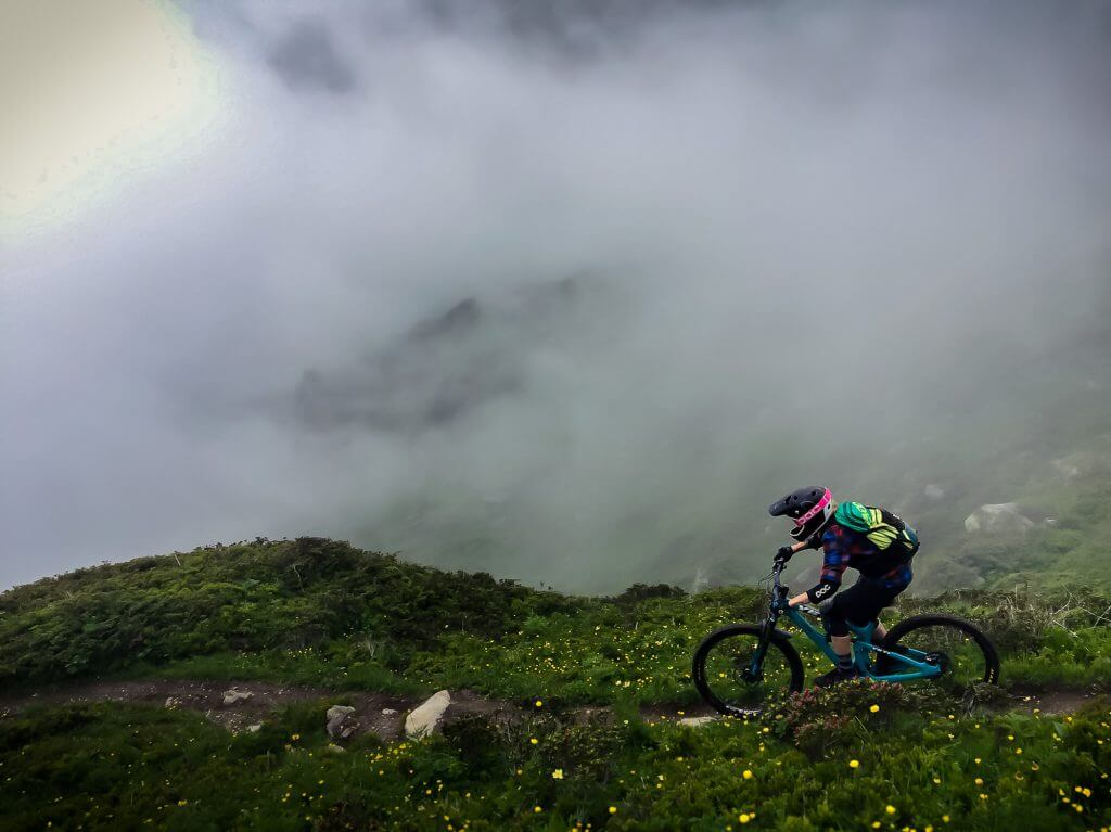 Mystic weather at Verbier Bikepark