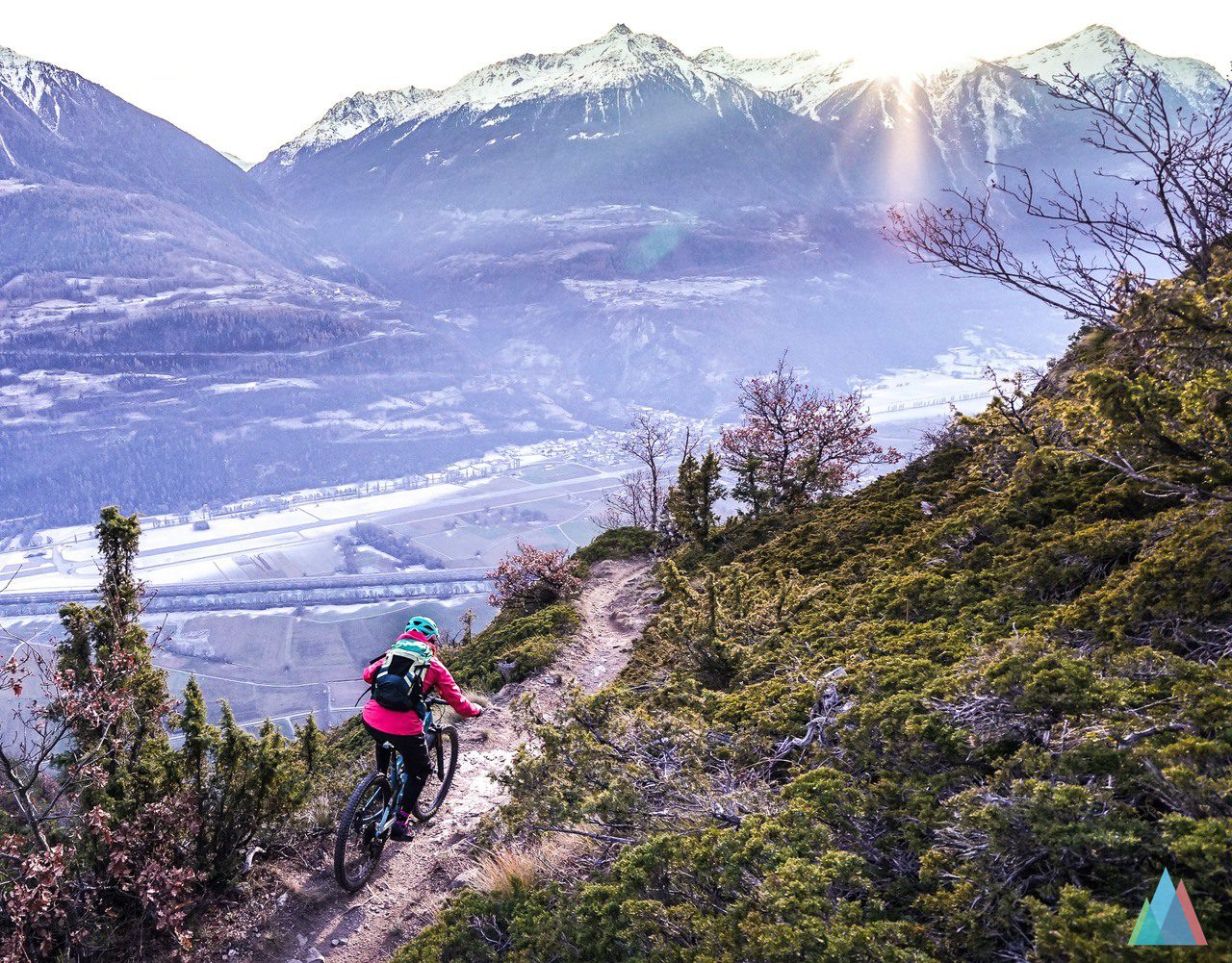 jeizinen gampel valais mtb mountainbike trail switzerland