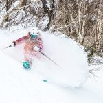 Skiing powder in Niseko