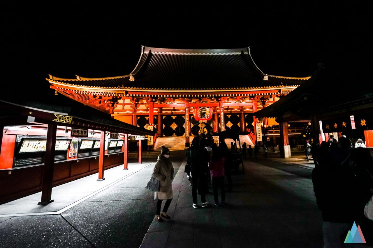 Sensō-ji-Tempel-tokyo-nacht